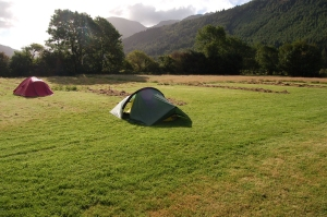 Camping at Low Gillerthwaite